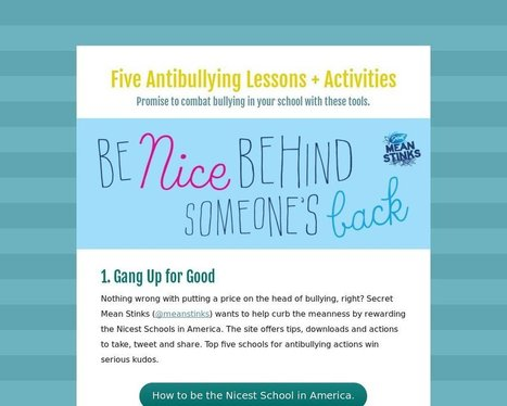 Five Antibullying Lessons + Activities - Tackk | Technology, Teaching, Learning Ideas I Need to Study further. | Scoop.it