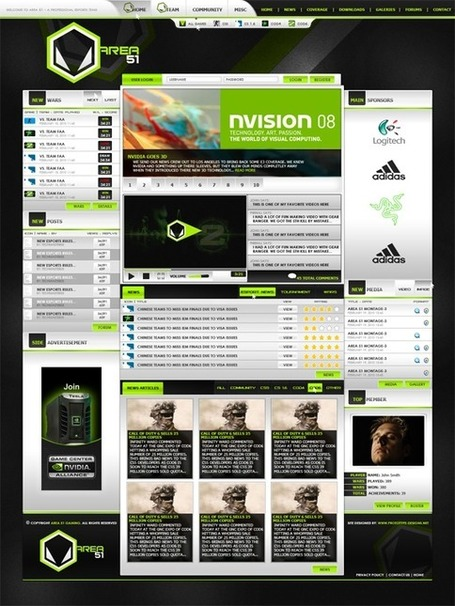 45 Insanely Great Gaming Website Designs Inspire | Design Revolution | Scoop.it