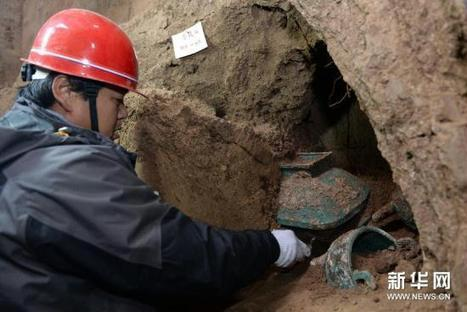 Bronze trove unearthed in Western Zhou Dynasty tomb CCTV News - CNTV English | Archaeology News | Scoop.it