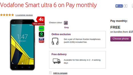 Vodafone Smart ultra 6 with Impressive Specs Launched | Android mobiles | Scoop.it