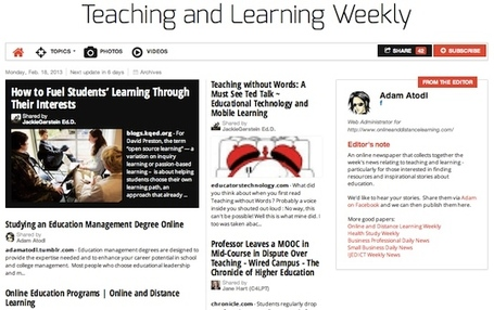 February 18, 2013: Teaching and Learning Weekly is out | Studying Teaching and Learning | Scoop.it