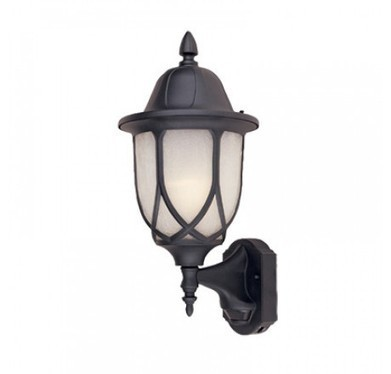 "Designers Fountain 2868MD-BK 9"" Cast Wall Lantern MD 