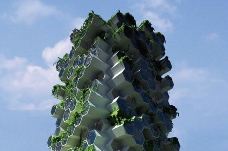 Beehive-Inspired Vertical Farm is a Self-Sufficient Mini Ecosystem for London | Eetbare Stad | Scoop.it