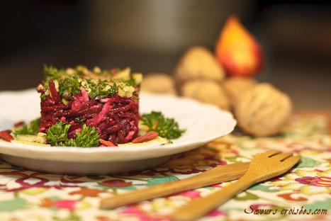Salade de betterave au comté et au pesto : une entrée d'hiver | The Voice of Cheese | Scoop.it