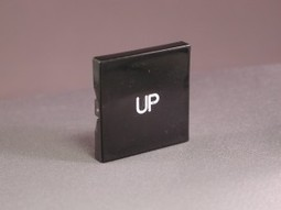"""000176 """"UP"""" Plastic Button only 