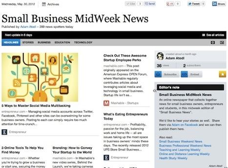 Small Business MidWeek News - May 30 | Business Futures | Scoop.it