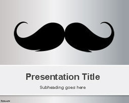 Moustache PowerPoint Template | Free Powerpoint Templates | Mustache | Scoop.it
