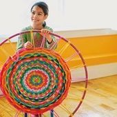 How To Make A Rug With A Hula Hoop - Things to Make and Do, Crafts and Activities for Kids - The Crafty Crow | Yarn, yarn, yarn! | Scoop.it