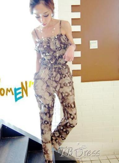 $ 18.69 Sweet Europe Style Snake Printed Two Pieces Set Jumpsuits | fashion | Scoop.it