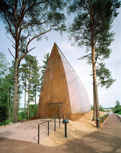 Copper-clad chapel in Finland has a curving wooden frame | INTRODUCTION TO THE SOCIAL SCIENCES DIGITAL TEXTBOOK(PSYCHOLOGY-ECONOMICS-SOCIOLOGY):MIKE BUSARELLO | Scoop.it