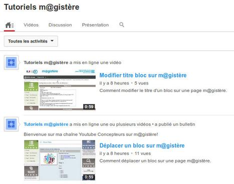 Tutoriels vidéo sur M@gistère | TICE, Web 2.0, logiciels libres | Scoop.it