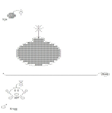 Chris.com - ASCII ART - Bomb - Bombs - Explosions - Dynamite | ASCII Art | Scoop.it