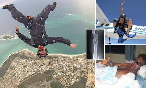 Skydiver faces losing his leg after crashlanding into a parked van | Travel News Travel Tips | Scoop.it