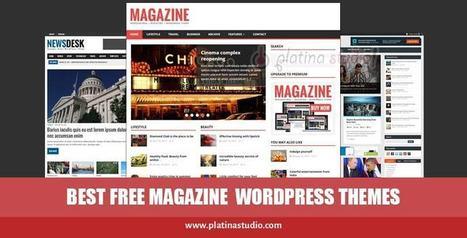 30+ Best Free Responsive Magazine WordPress Themes for Online News Portals and Magazine Websites   platinastudio   Scoop.it