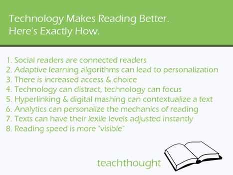 Technology Makes Reading Better. Here's Exactly How. - Te@chThought | 21 century Learning Commons | Scoop.it
