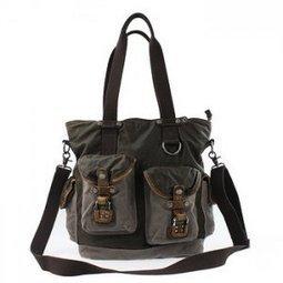 Versatile leather canvas tote shoulder bags for women or mens - $134.60 : Notlie handbags, Original design messenger bags and backpack etc | Best mens style outlet | Scoop.it