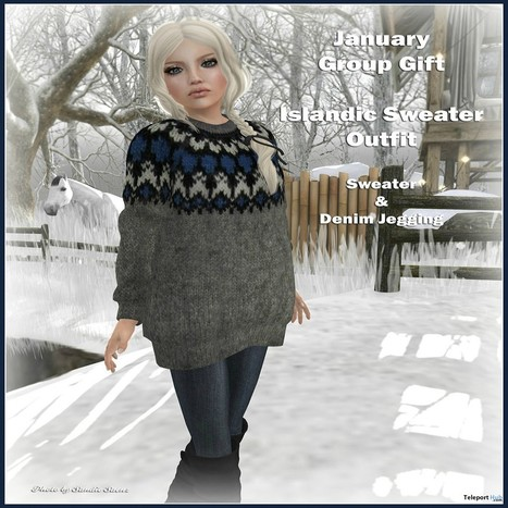 Islandic Sweater Outfit January 2015 Group Gift by FA CREATIONS | Teleport Hub - Second Life Freebies | Second Life Freebies | Scoop.it