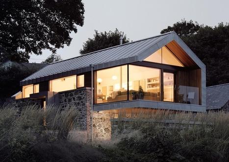 Magnifique r habilitation d 39 une maison p for Maison moderne zinc