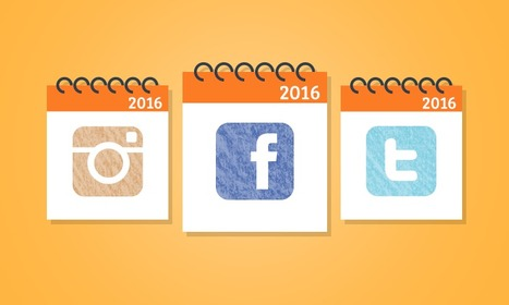 Social Media Monthly Planner for 2016 | Social Media | Scoop.it