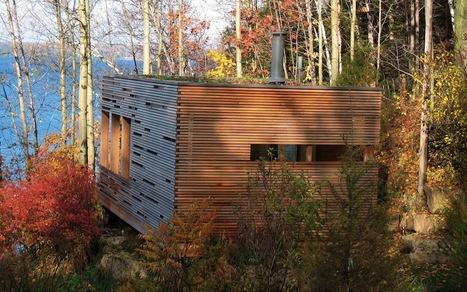 Cedar-Slat Tiny Sunset Cabin on the Lake | zero waste living | Scoop.it