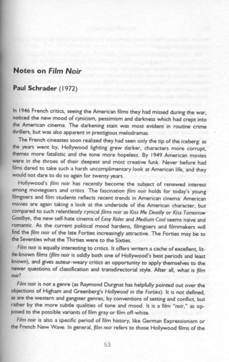 Paul Schrader: Notes on Film Noir An amazing... | Filmnoirliveshere | Scoop.it