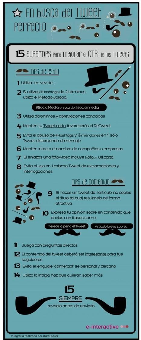 Buscando el Tweet Perfecto: 15 Consejos para Mejorar el CTR de tus Tweets | Víctor Martín | Addict to technology | Scoop.it