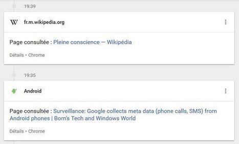 Les renseignements en ont rêvé, Google l'a fait : MyActivity de Google | Veille et Intelligence Economique | Scoop.it