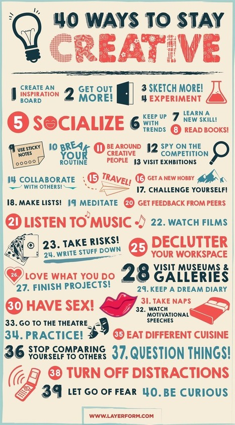 40 Ways to Stay Creative | Technology in Art And Education | Scoop.it