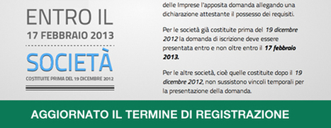 Startup Innovativa: la registrazione anche dopo il 17 Febbraio | The Italian Startup Ecosystem | Scoop.it