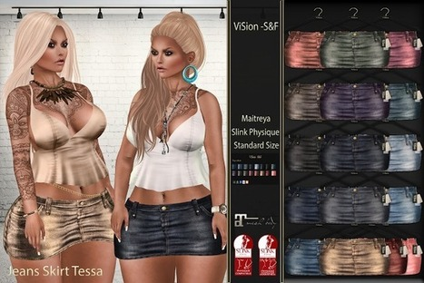 ViSion - S&F: {ViSion} -S&F *Jeans Skirt Tessa [Maitreya,Slink] | ViSion -S&F | Scoop.it