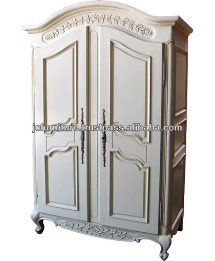MAHOGANY FRENCH STYLE ARMOIRE WHITE PAINTED FINISH, View French Style Furniture, FRENCH STYLE WARDROBE 2 DOORS Product Details from CV. JEPARA CRAFTER FURNITURE on Alibaba.com | Indonesian Teak Wood Furniture Indoor and Outdoor | Scoop.it