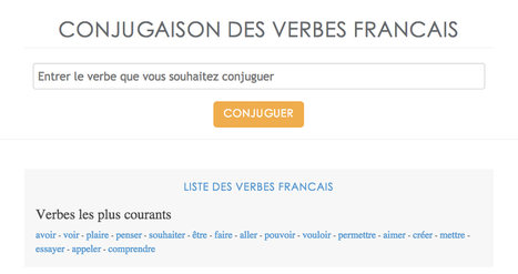 French conjugation - Conjugation of all the french verbs | Sites Utiles | Scoop.it