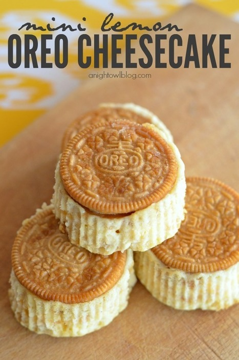 Mini Lemon Oreo Cheesecake | The Man With The Golden Tongs Hands Are In The Oven | Scoop.it