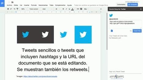 Social Drop, complemento para publicar en Twitter desde Google Docs | Recull diari | Scoop.it