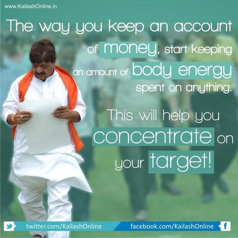 Concentrate on your Target | Kailash Vijayvargiya | IT Minister Madhya Pradesh | BJP Cabinet Minister | Scoop.it