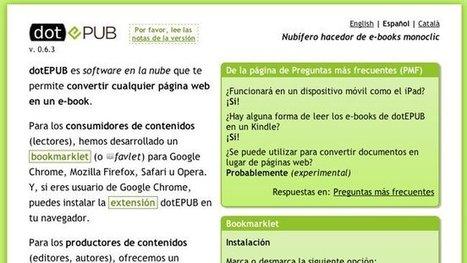 dotEPUB te permite convertir con un click cualquier web en un libro electrónico | Recursos al-basit | Scoop.it