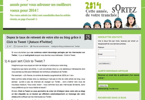 Dopez le taux de retweet de votre site ou blog grâce à Click to Tweet | #TonUpdate | Médias sociaux (Twitter + Facebook) | Scoop.it