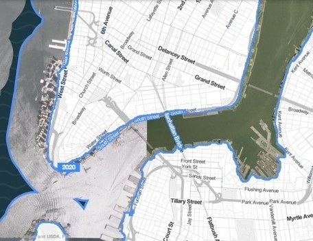 Storm Surge Interactive Map Shows What Parts of NYC Could be Affected by Rising Sea Levels | green infographics | Scoop.it