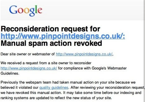 What To Do When Google Doesn't Accept Your Reconsideration Request | Google Penalty World | Scoop.it