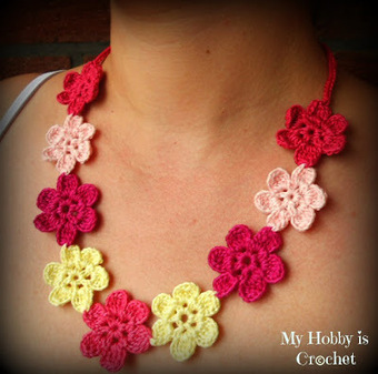 My Hobby Is Crochet: Flower Necklace Hawaiian Dream- Free pattern with tutorial | flores a crochet | Scoop.it