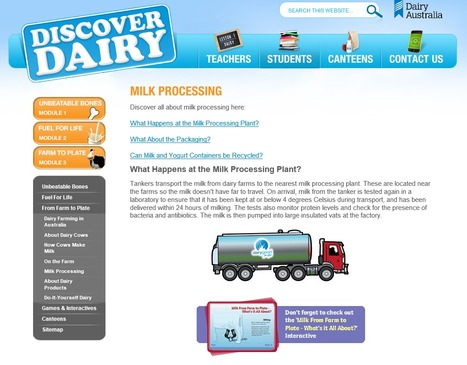 Milk Processing - Dairy Australia | Food Technologies to Promote Healthy Lifestyles | Scoop.it
