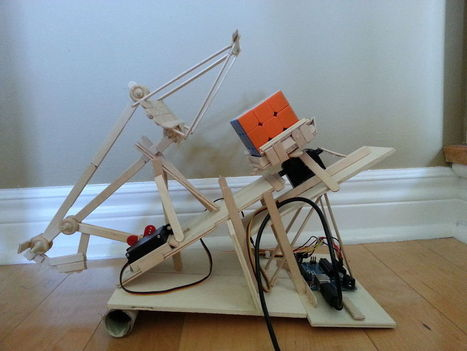 Rubik's Cube Solver Made Out of Popsicle Sticks and an Arduino | Heron | Scoop.it