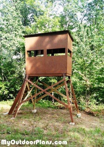 DIY Deer Shooting Blind | MyOutdoorPlans | Free Woodworking Plans and Projects, DIY Shed, Wooden Playhouse, Pergola, Bbq | Garden Plans | Scoop.it