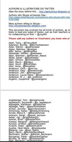 A List of 100+ Authors and IIlustrators on Twitter ~ Educational Technology and Mobile Learning | Reading Rocks | Scoop.it
