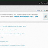 Podcastomatic Turns Blogs Into Podcasts | Aprendiendo a Distancia | Scoop.it