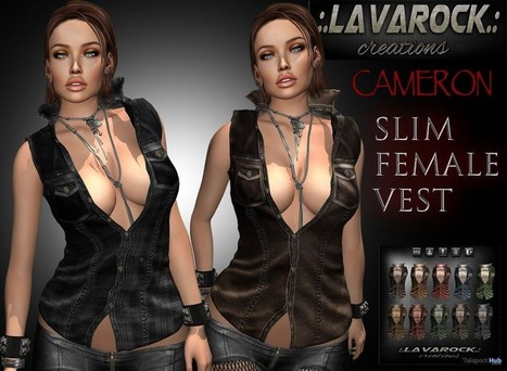 Cameron Slim Female Vest Group Gift by Lavarock Creations | Teleport Hub - Second Life Freebies | Second Life Freebies | Scoop.it