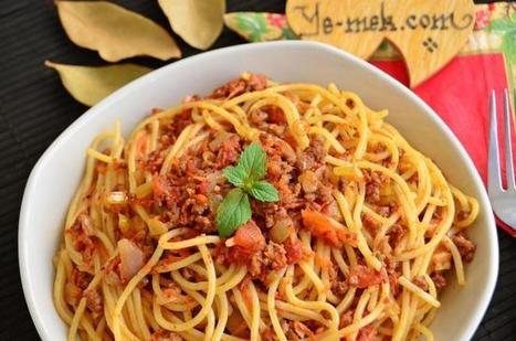 Bolonez Soslu Spagetti Tarifi (Resimli Anlatım) | Kolay ve Pratik Resimli Yemek Tarifleri | Göbeğim | Makarna Tarifleri | Scoop.it