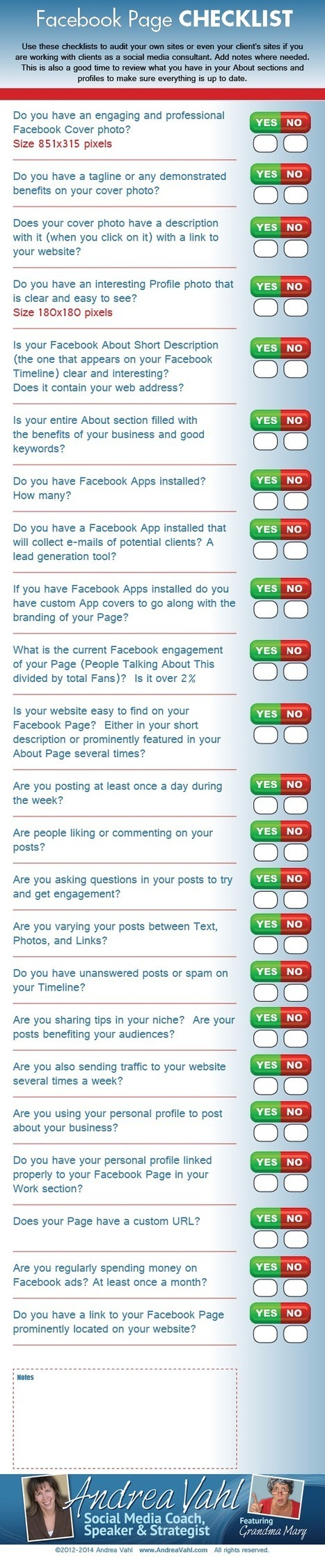 Facebook Page Checklist [Infographic] | Content Marketing | Scoop.it