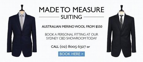 Bespoke Suits Sydney, Buy Mens Suits Online, Made to Measure - Joe Button | buy suits | Scoop.it