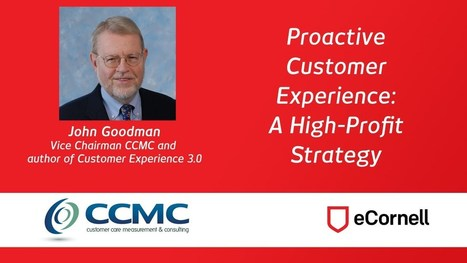 Proactive Customer Experience: A High-Profit Strategy [webinar archive] - YouTube | Customer experience | Scoop.it